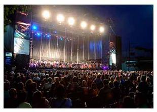 Noche de Música en la Av. Corrientes